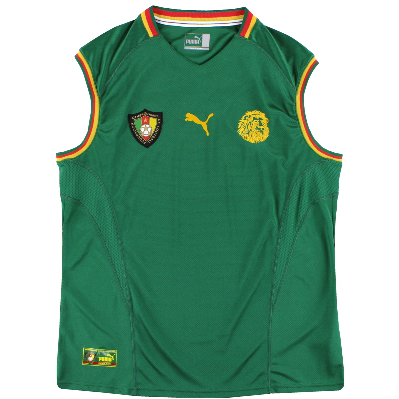 2002 Cameroon Home Sleeveless Vest Shirt XL