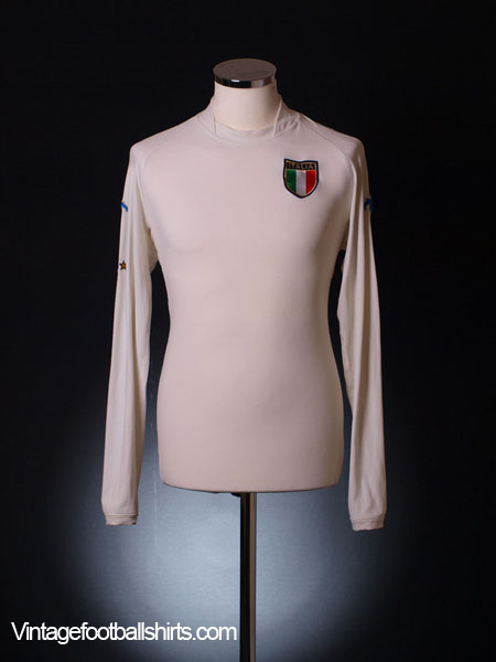 2002 Italy Away Shirt L/S XL