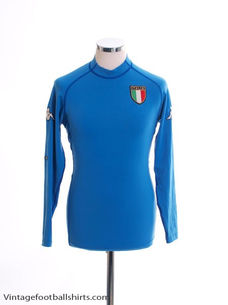 2002 Italy Home Shirt L/S M