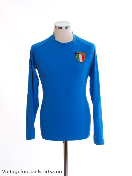 2002 Italy Home Shirt L/S XL