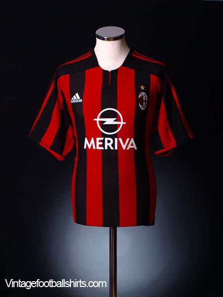 2003-04 AC Milan Home Shirt XL