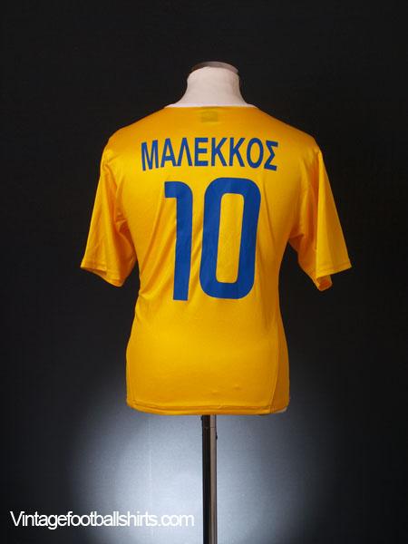 2003-04 Apoel Home Shirt Malekkos #10 S