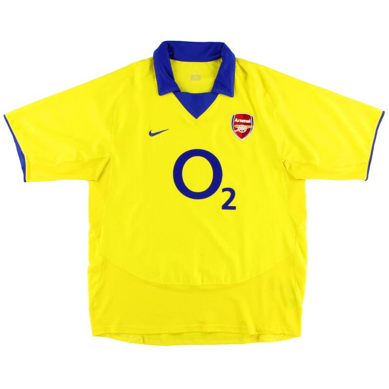 2003-04 Arsenal Away Shirt *Mint* XL - 112712