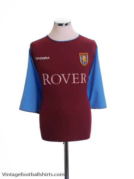 2003-04 Aston Villa Home Shirt #3 *Mint* XXL