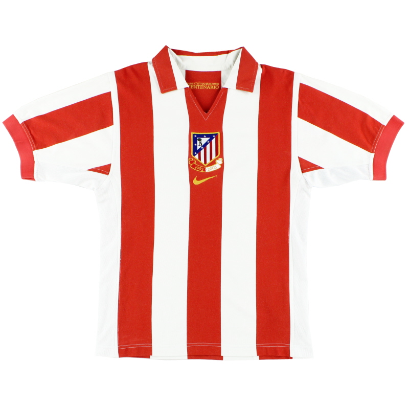 2003-04 Atletico Madrid Centenary Home Shirt XS