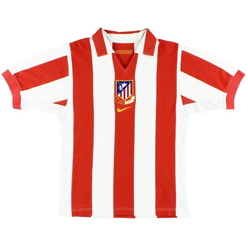 2003-04 Atletico Madrid Nike Centenary Home Shirt L