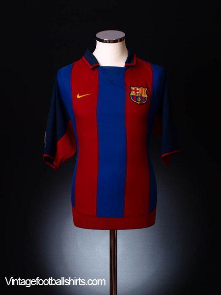 2003-04 Barcelona Home Shirt L