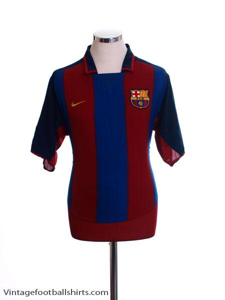 2003-04 Barcelona Home Shirt M