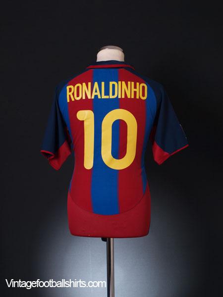 5165b4919 2003-04 Barcelona Home Shirt Ronaldinho  10 M for sale