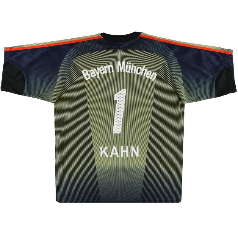 2003-04 Bayern Munich adidas Goalkeeper Shirt Kahn #1 M