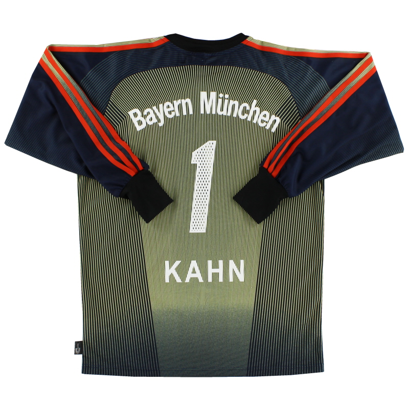 2003-04 Bayern Munich Goalkeeper Shirt Kahn #1 XL.Boys