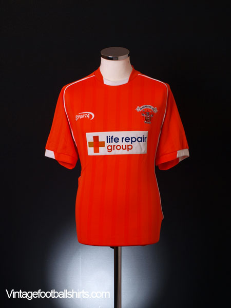 2003-04 Blackpool Home Shirt M