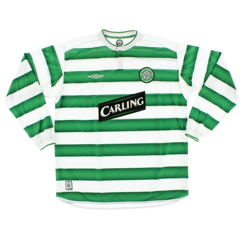 2003-04 Celtic Home Shirt L/S *Mint* XL