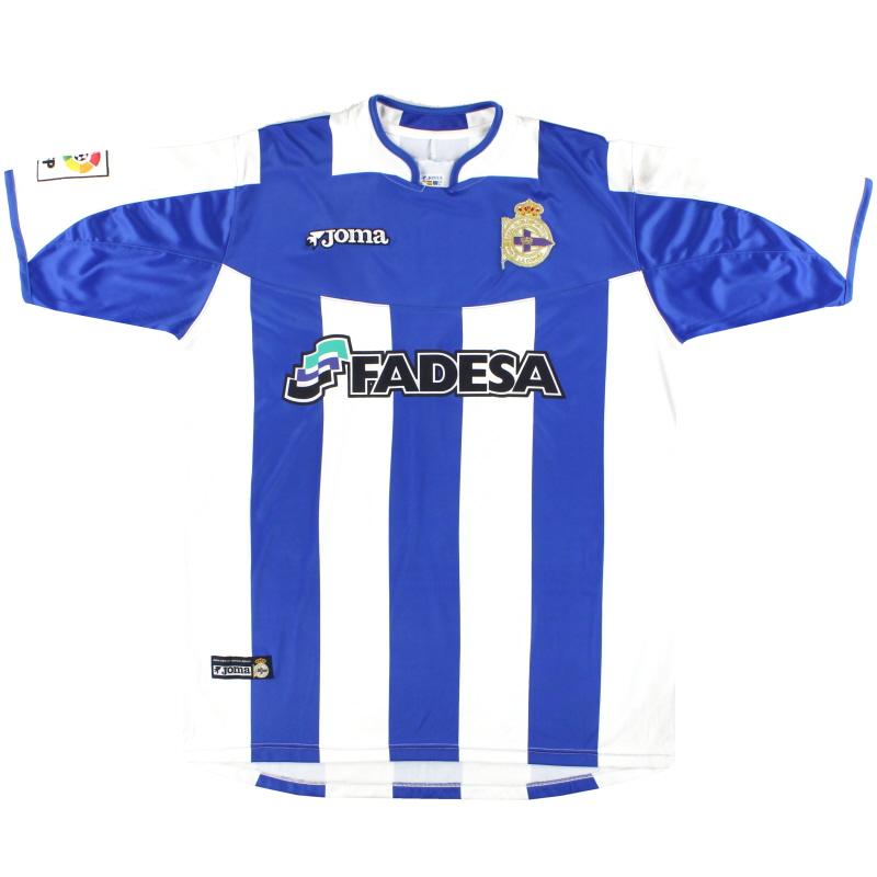 2003-04 Deportivo Joma Home Shirt XL