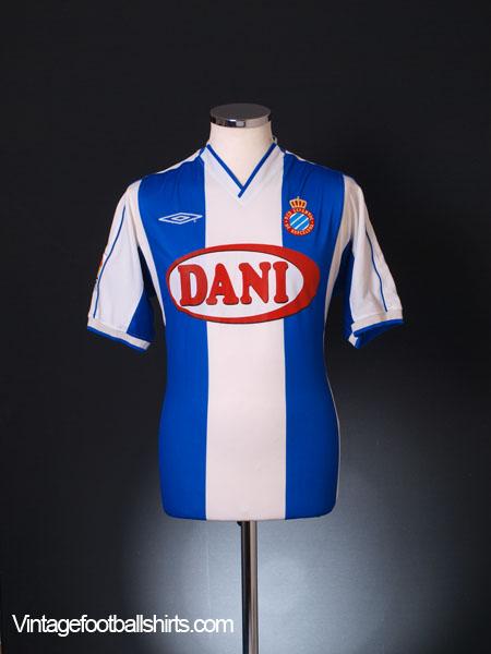 2003-04 Espanyol Home Shirt M
