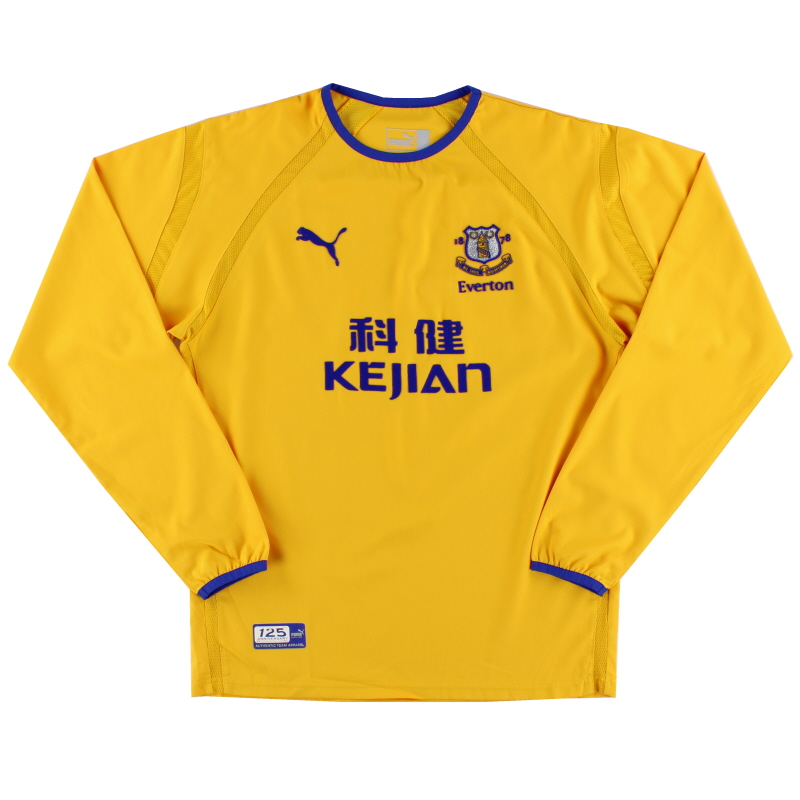 2003-04 Everton Away Shirt L/S *Mint* M
