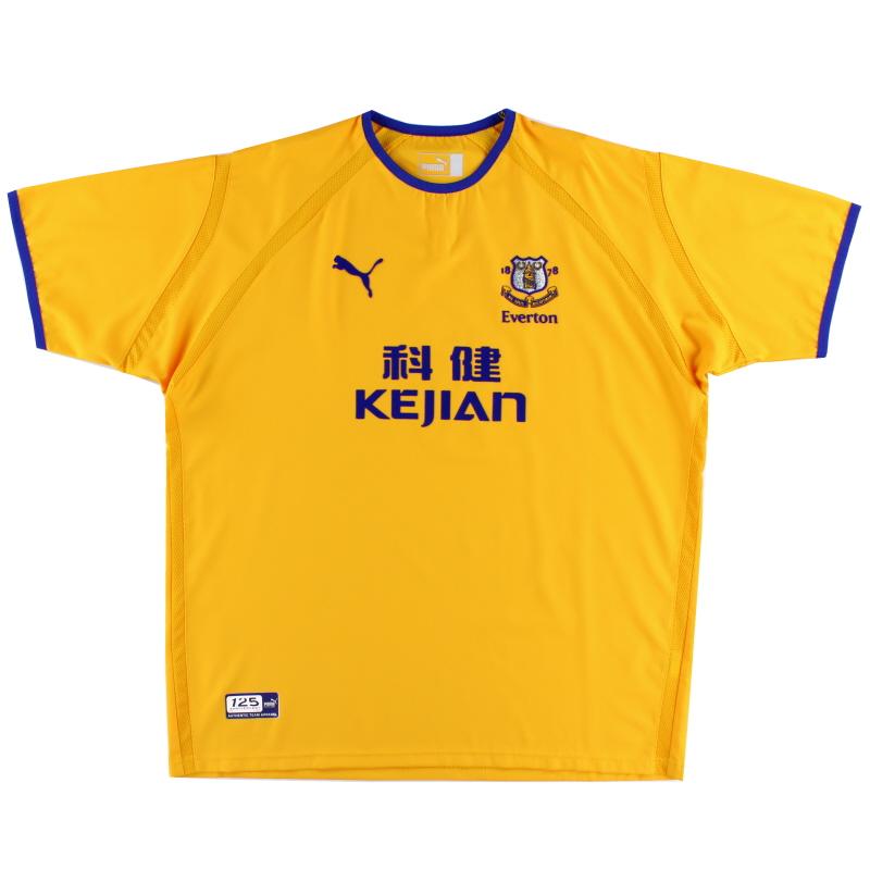 2003-04 Everton Away Shirt *Mint* XL