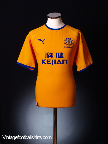 2003-04 Everton Away Shirt *Mint* L