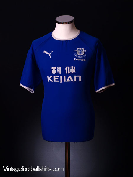 2003-04 Everton Home Shirt L