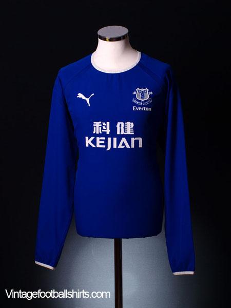 2003-04 Everton Home Shirt L/S  XL