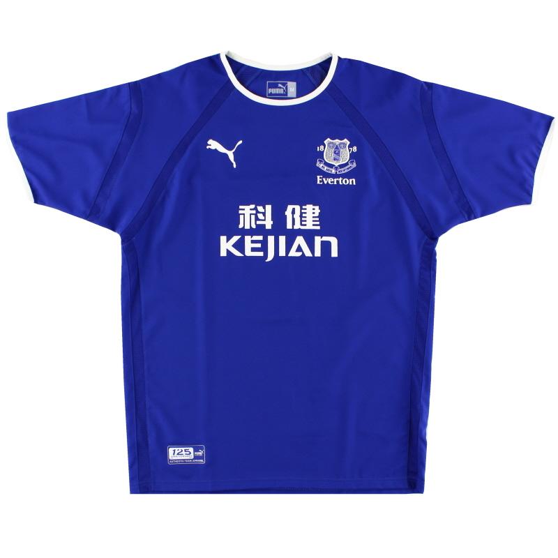 2003-04 Everton Home Shirt M