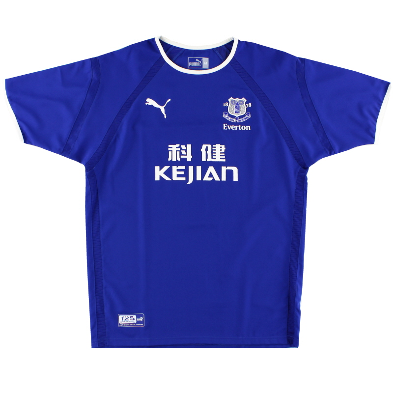 2003-04 Everton Home Shirt M