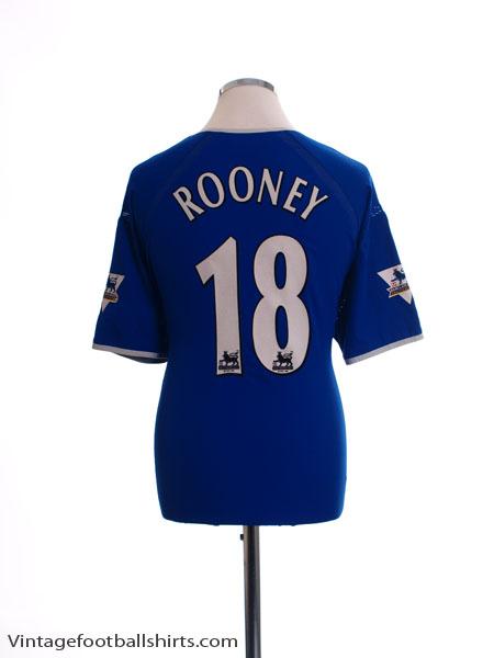 2003-04 Everton Home Shirt Rooney #18 *Mint* XL