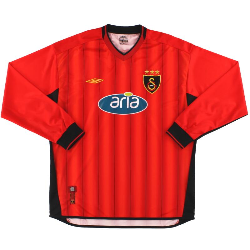 2003-04 Galatasaray Umbro Third Shirt L/S *Mint* XL