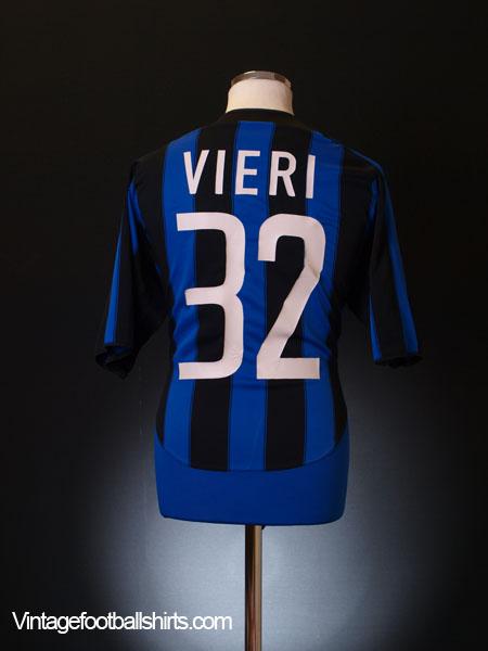 2003-04 Inter Milan Home Shirt Vieri #32 XL