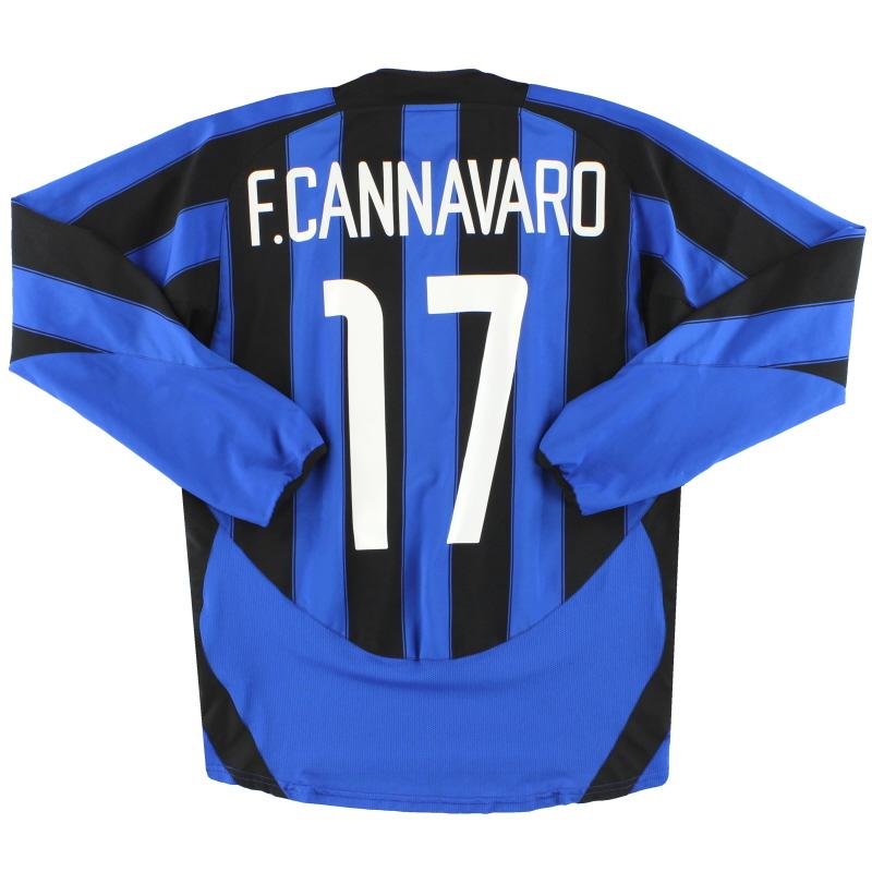 2003-04 Inter Milan Nike Home Shirt F.Cannavaro #17 L/S M - 112663