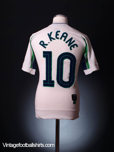 2003-04 Ireland Umbro Training Shirt Keane #10 S