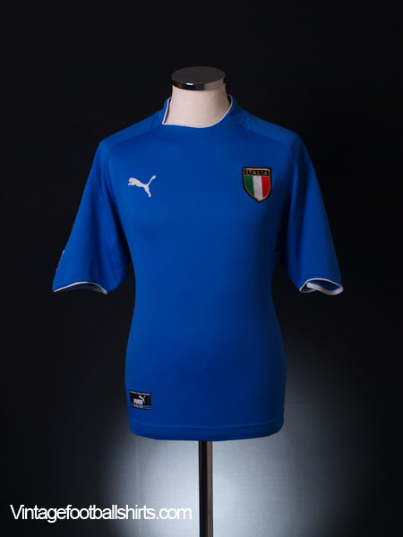 2003-04 Italy Home Shirt S
