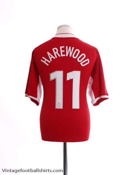 2003-04 Nottingham Forest Home Shirt Harewood #11 L