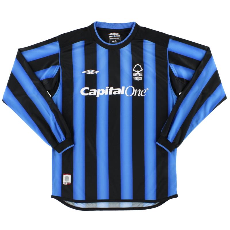 2003-04 Nottingham Forest Umbro Third Shirt L/S L.Boys