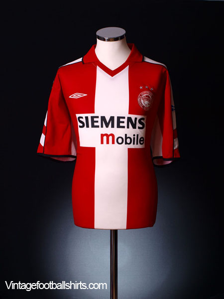 2003-04 Olympiakos Home Shirt *Mint* M