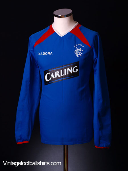 2003-04 Rangers Home Shirt L/S M