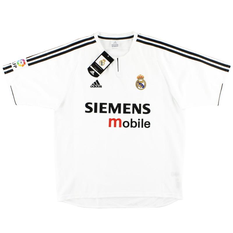 2003-04 Real Madrid adidas Home Shirt *w/tags* XXL - 021804