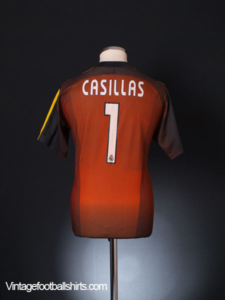 2003-04 Real Madrid Goalkeeper Shirt Casillas #1 S