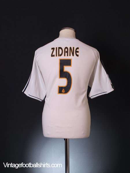 2003-04 Real Madrid Home Shirt Zidane #5 L