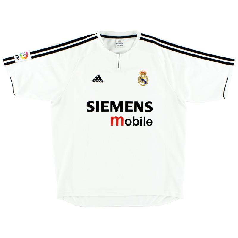 2003-04 Real Madrid adidas Home Shirt XL - 021804