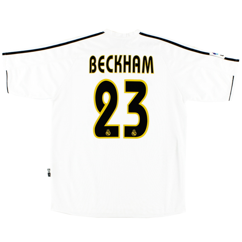 the latest ec9e9 654f5 2003-04 Real Madrid Home Shirt Beckham #23 XL for sale