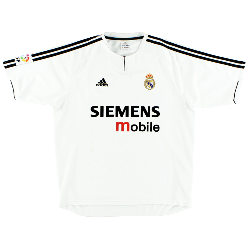 2003-04 Real Madrid adidas Home Shirt S - 021804