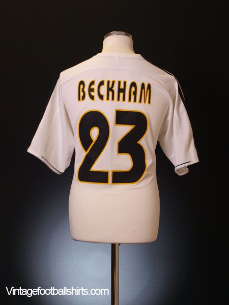 2003-04 Real Madrid Home Shirt Beckham #7 XL