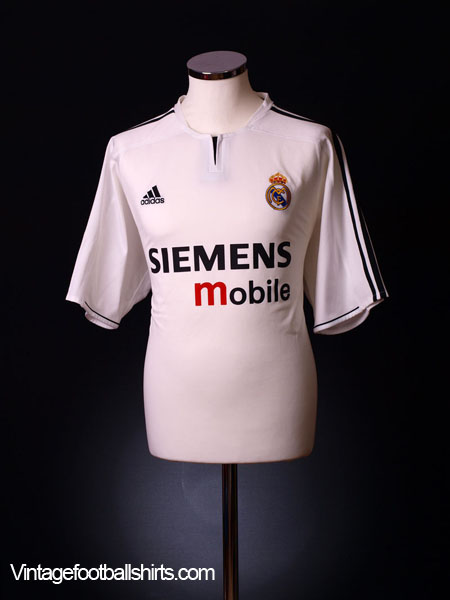 2003-04 Real Madrid Home Shirt *Mint* M