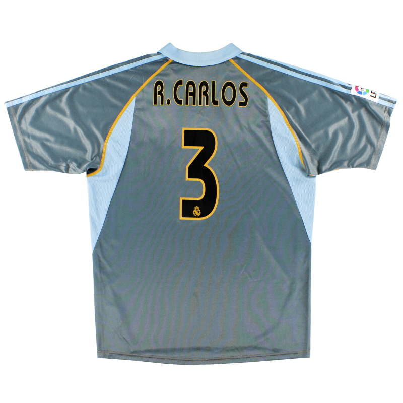 2003-04 Real Madrid Third Shirt R.Carlos #3 *Mint* M