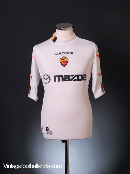 2003-04 Roma Away Shirt XL
