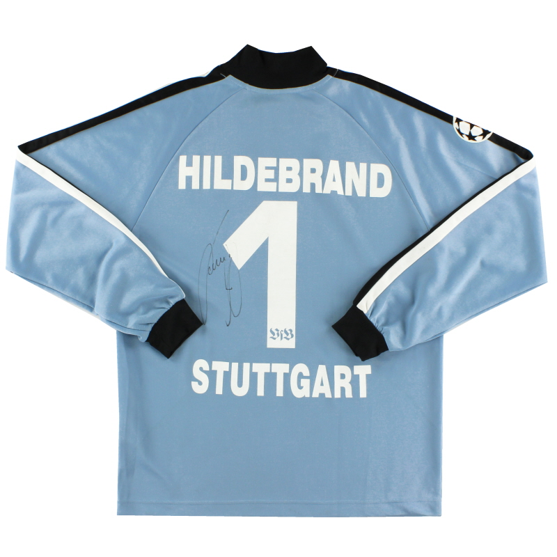 2003-04 Stuttgart CL Match Issue 'Signed' GK Shirt Hildebrand #1 XL - 650105