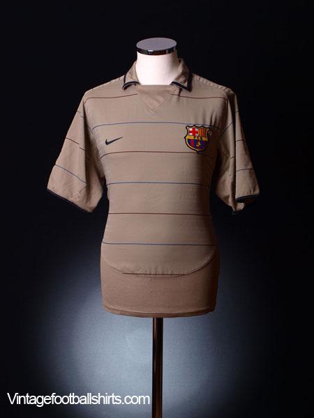 2003-05 Barcelona Away Shirt L