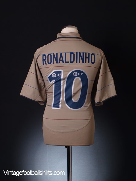 2003-05 Barcelona Away Shirt Ronaldinho #10 L