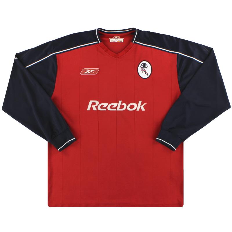 2003-05 Bolton Reebok Away Shirt L/S L - 231189